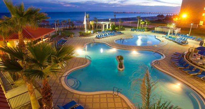 Hotel Pool Night Pensacola